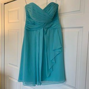 Strapless Teal Formal Dress